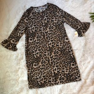 White birch animal print dress size Large NWT